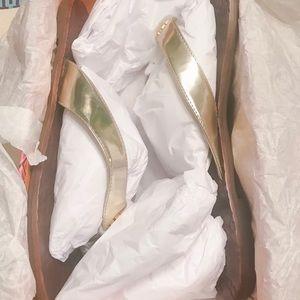 Tory Burch Shoes - NEW Tory Burch gold Monroe